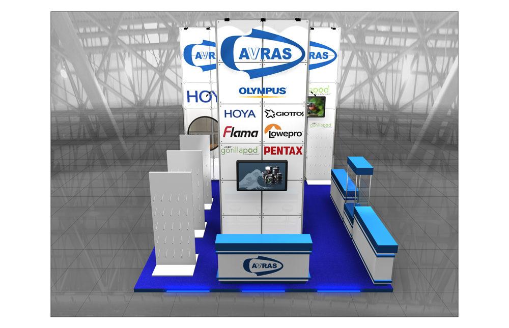 Дизайн проект выставочного стенда AVRAS. Выставка Фотофорум 2009