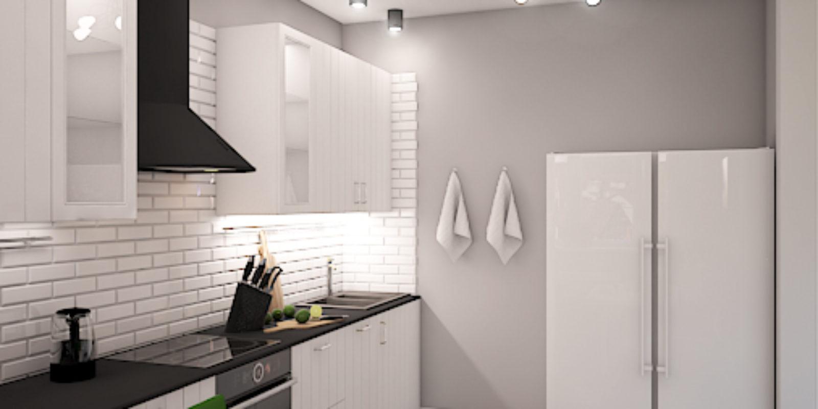 Дизайн проект двухуровневой квартиры. Кухня.