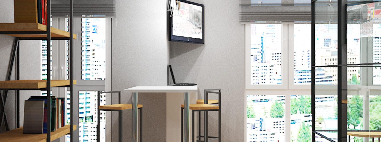 Дизайн проект квартиры в стиле лофт