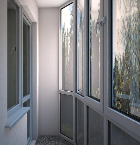 Дизайн проект балкона