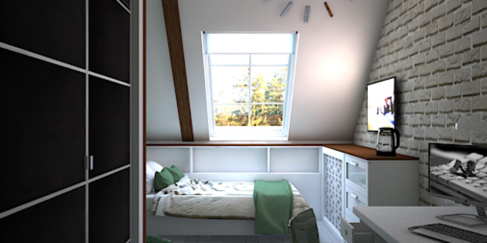Дизайн проект двухуровневой квартиры. Детская.