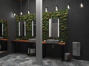 Дизайн проект туалетных комнат в клубе