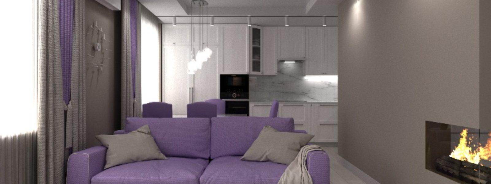 Дизайн проект трехкомнатной квартиры. Гостиная.