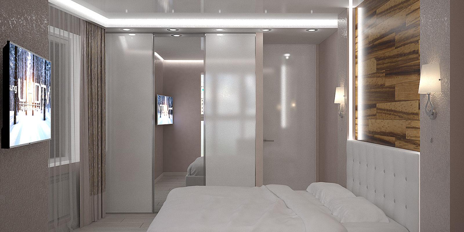 Дизайн проект трехкомнатной квартиры. Спальня.
