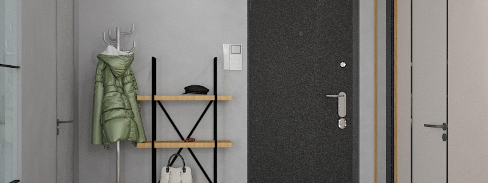 Дизайн проект квартиры в стиле лофт. Прихожая.
