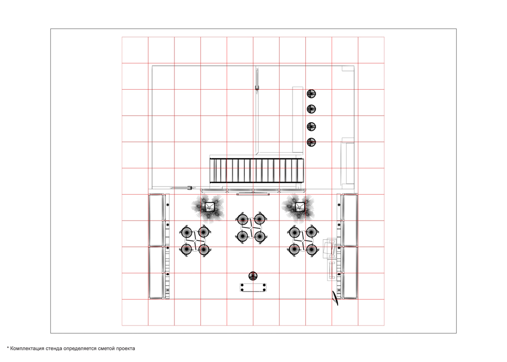 Дизайн проект выставочного стенда ARD для выставки Связь 2009