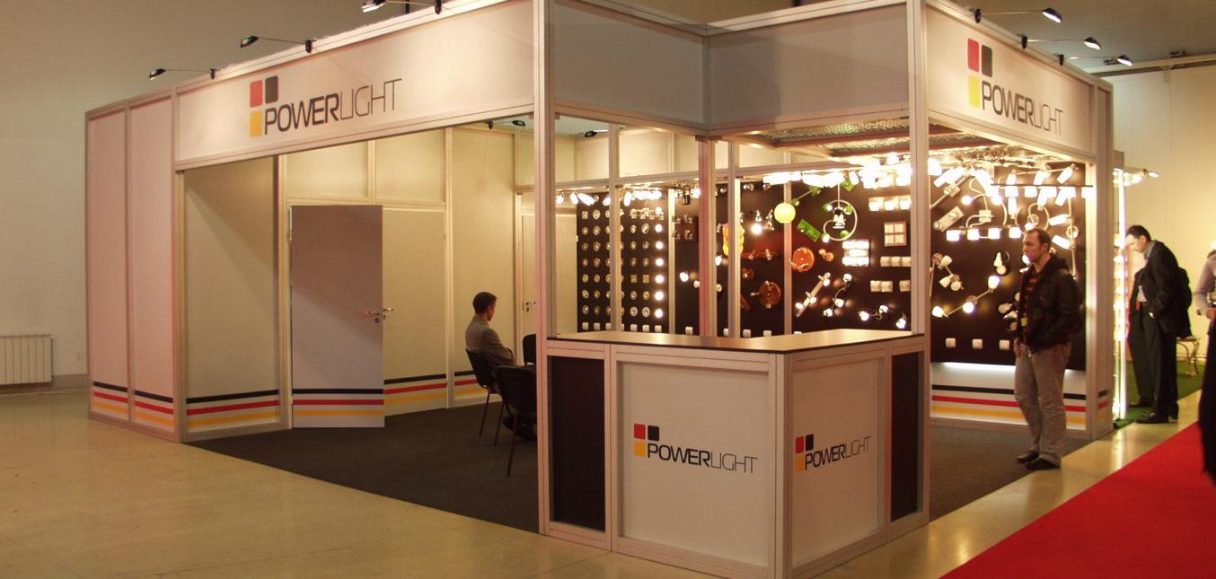 Дизайн проект выставочного стенда для компании PowerLight - выставка Interlight 2009