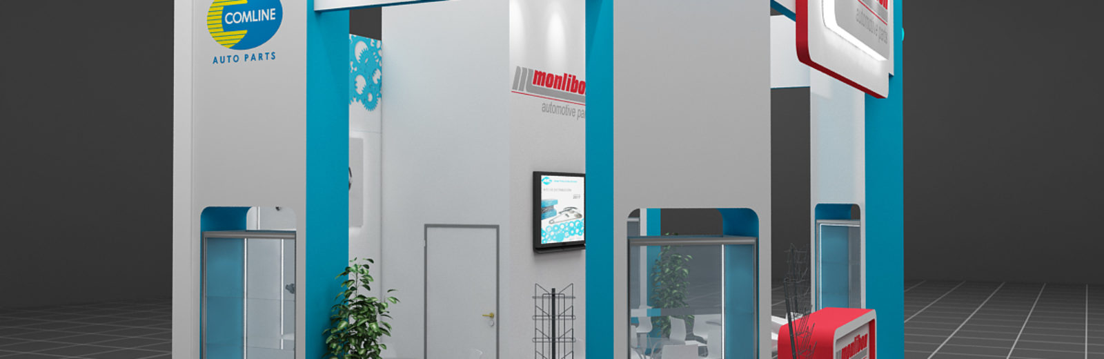 Дизайн проект выставочного стенда Monlibon.
