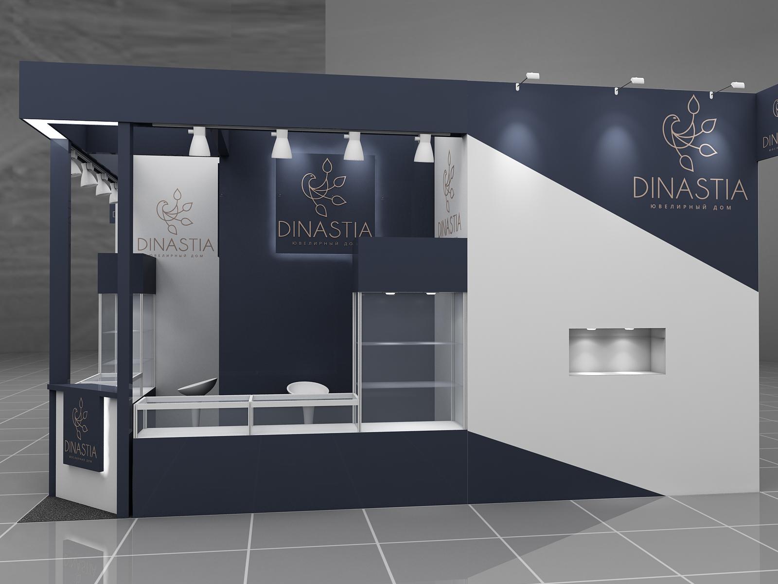 Дизайн проект выставочного стенда Ювелирный дом Династия