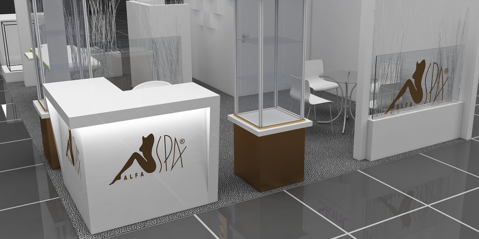 Дизайн проект выставочного стенда Alfa Spa.