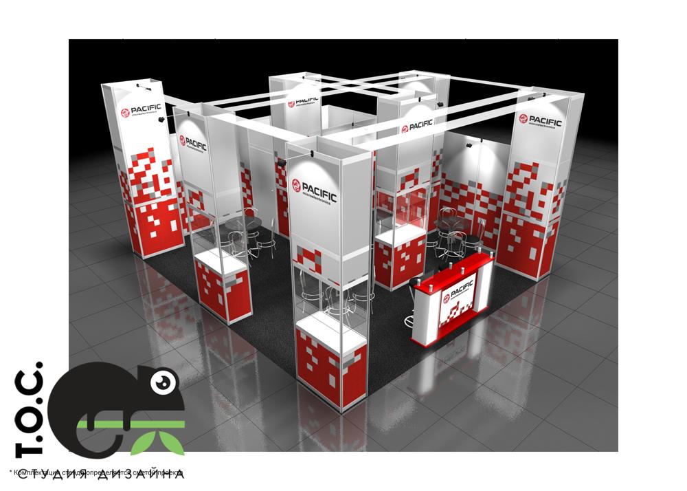 Дизайн проект выставочного стенда Pacific Microelectronics.