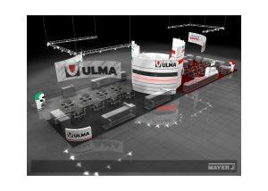 Дизайн проект выставочного стенда для компании Ulma.