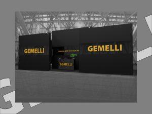 Дизайн проект выставочного стенда для компании Gemelli.