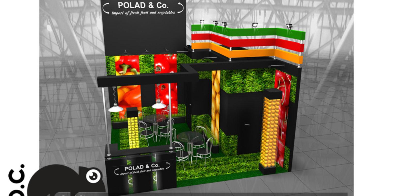 Дизайн проект выставочного стенда для компании Polad&Co.