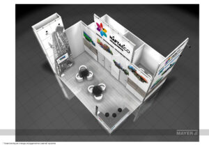 Дизайн проект выставочного стенда для компании Первомайскхиммаш. Объединение Naftaeco.