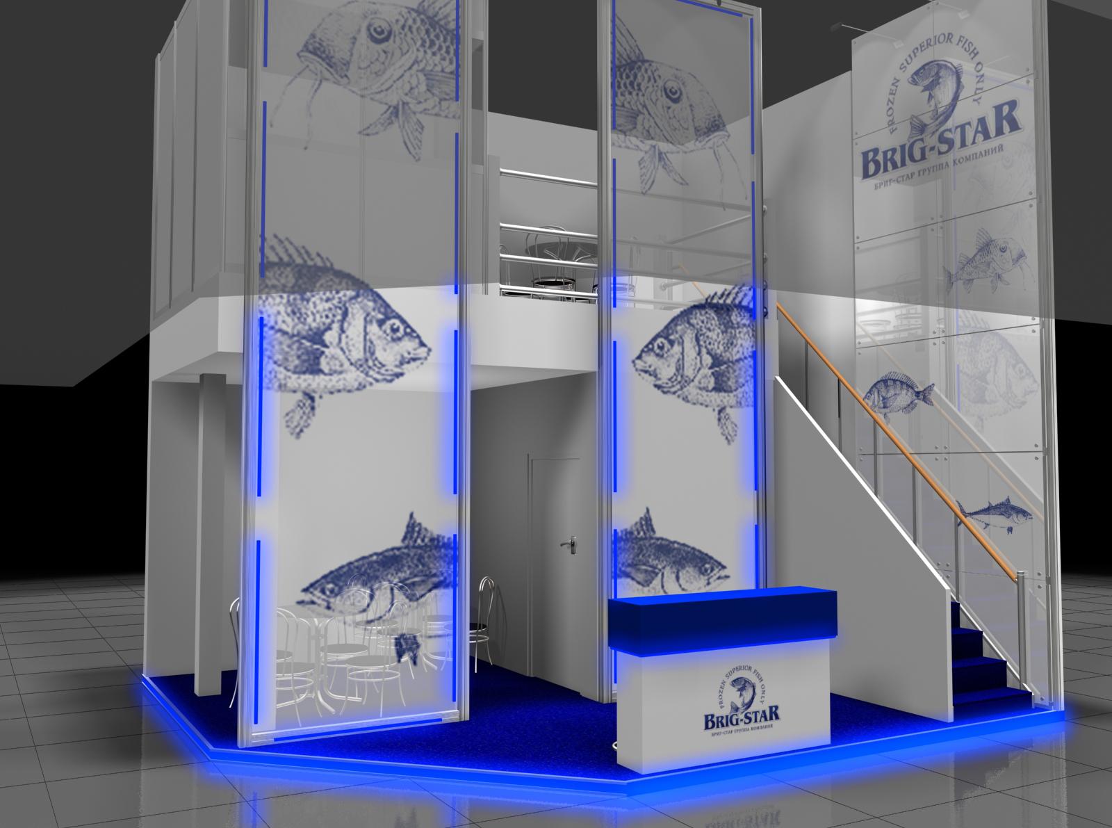 Дизайн проект выставочного стенда для группы компаний Бриг-Стар (Brig-star).