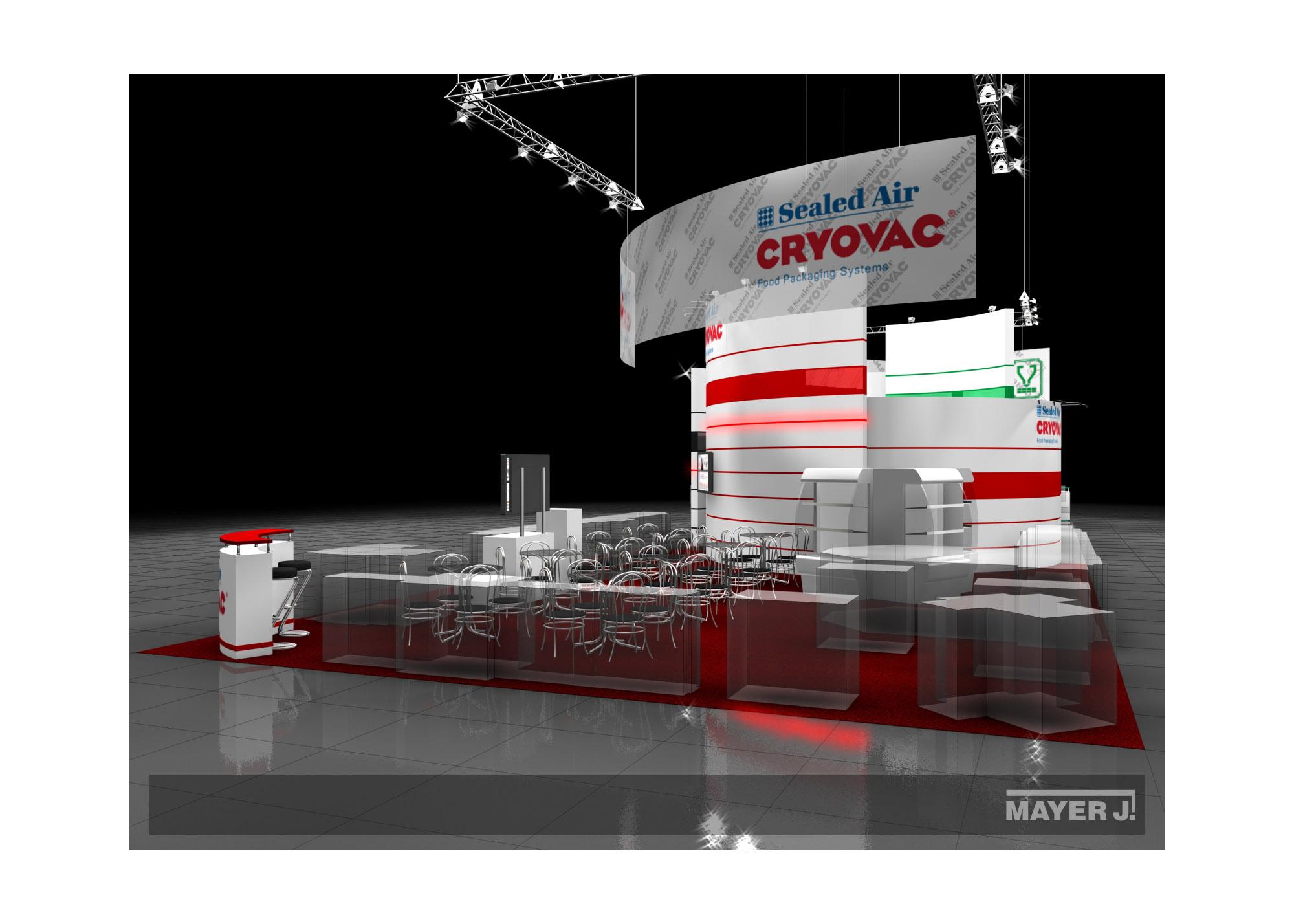Дизайн проект выставочного стенда для компании Cryovac.