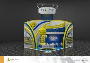 Дизайн проект выставочного стенда для группы компаний Юг Руси.