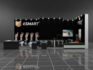 Дизайн проект выставочного стенда компании Esmart