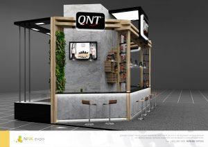 Дизайн проект выставочного стенда для компании QNT.