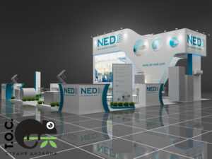 Дизайн проект выставочного стенда компании NED / New Engineering Discoveries.