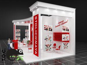 Дизайн проект выставочного стенда Stolichnaya vodka. Столичная водка.