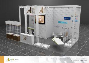 Дизайн проект выставочного стенда для компании Alfa SPA.