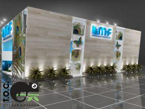 Дизайн проект выставочного стенда для компании M.F Мебельная фурнитура.