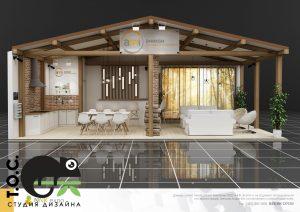 Дизайн проект выставочного стенда компании Ami (Амиком - системы безопасности)