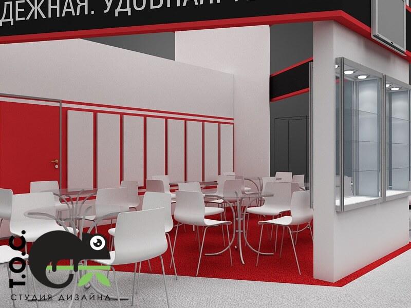 Дизайн проект выставочного стенда компании EKF