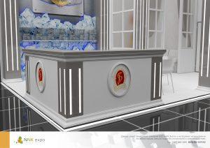 Дизайн проект выставочного стенда ТМ Бальзам. Водка Чкаловск-Ванкувер.