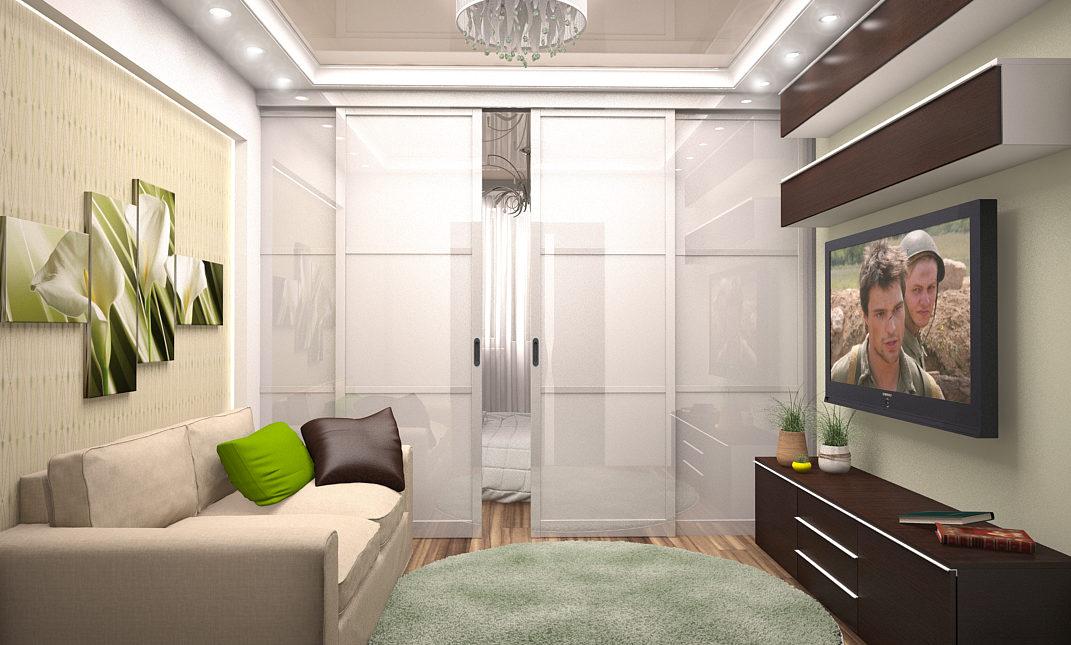 Дизайн проект спальни в неоклассическом стиле.
