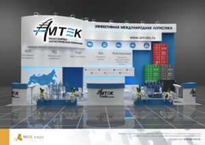 Дизайн проект выставочного стенда компании Амтек.