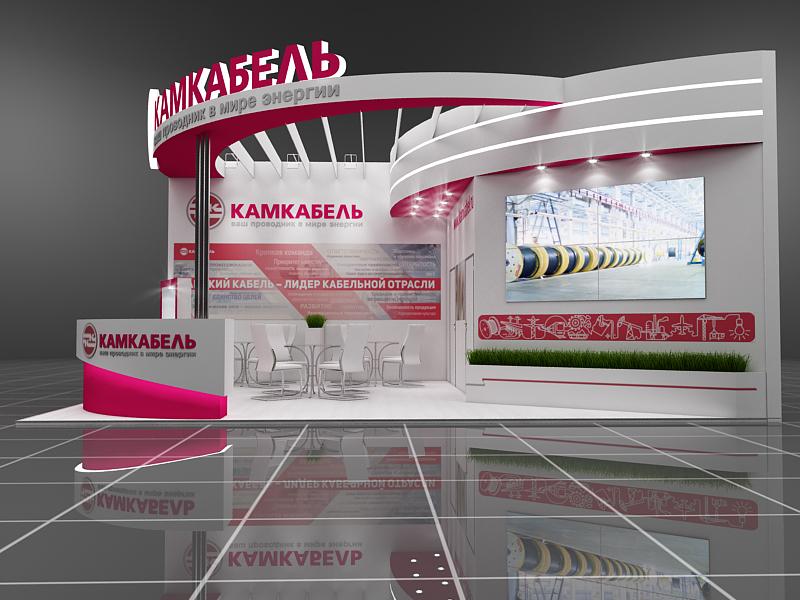 Дизайн проект выставочного стенда Камкабель.