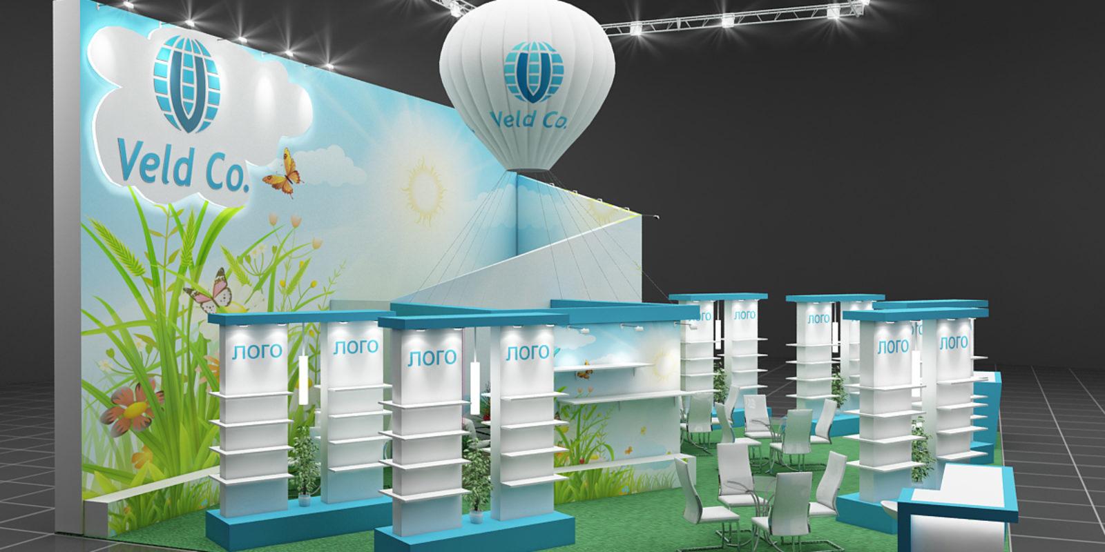 Дизайн проект выставочного стенда группы компании Ровен. Ровен – управление климатом.