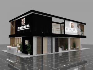 Дизайн проект выставочного стенда для компании Kerranova.
