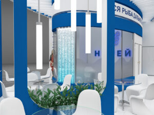 Дизайн проект выставочного стенда для компании Нерей.