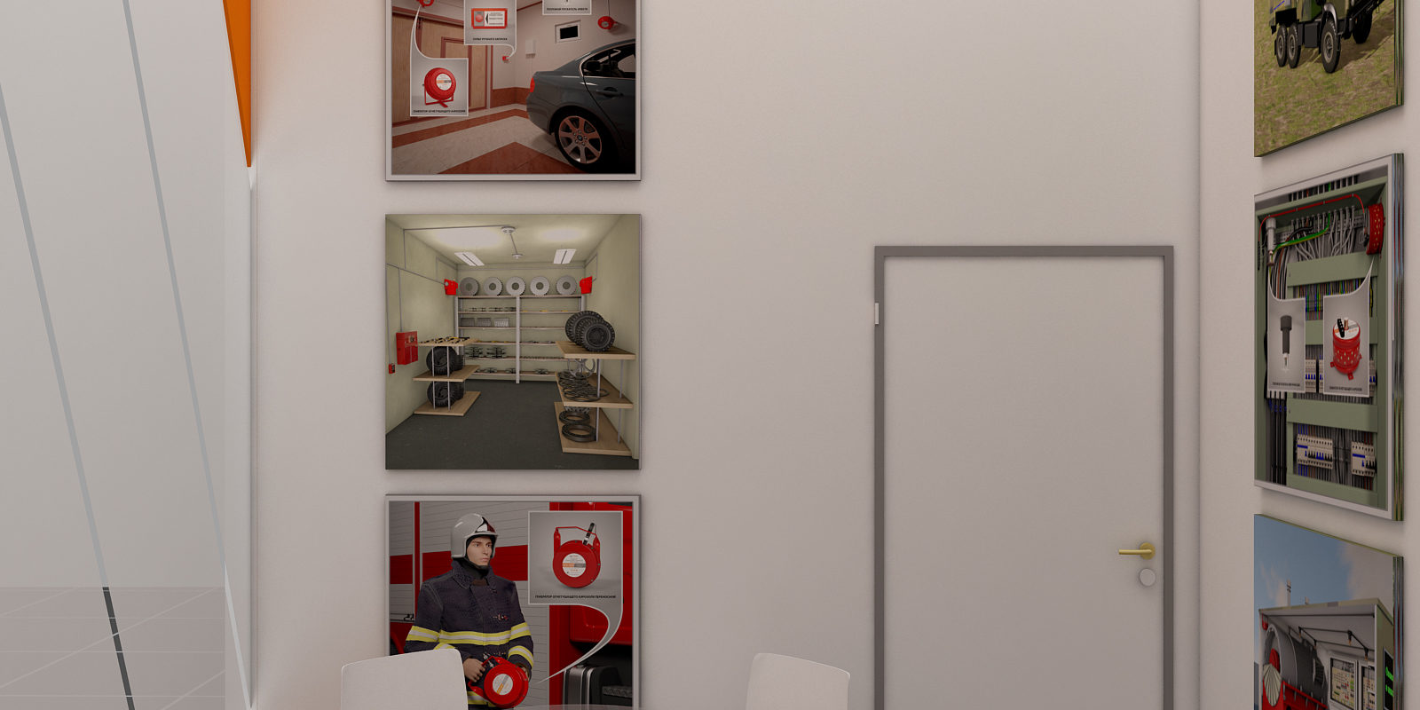 Дизайн проект выставочного стенда компании Гранит Саламандра.