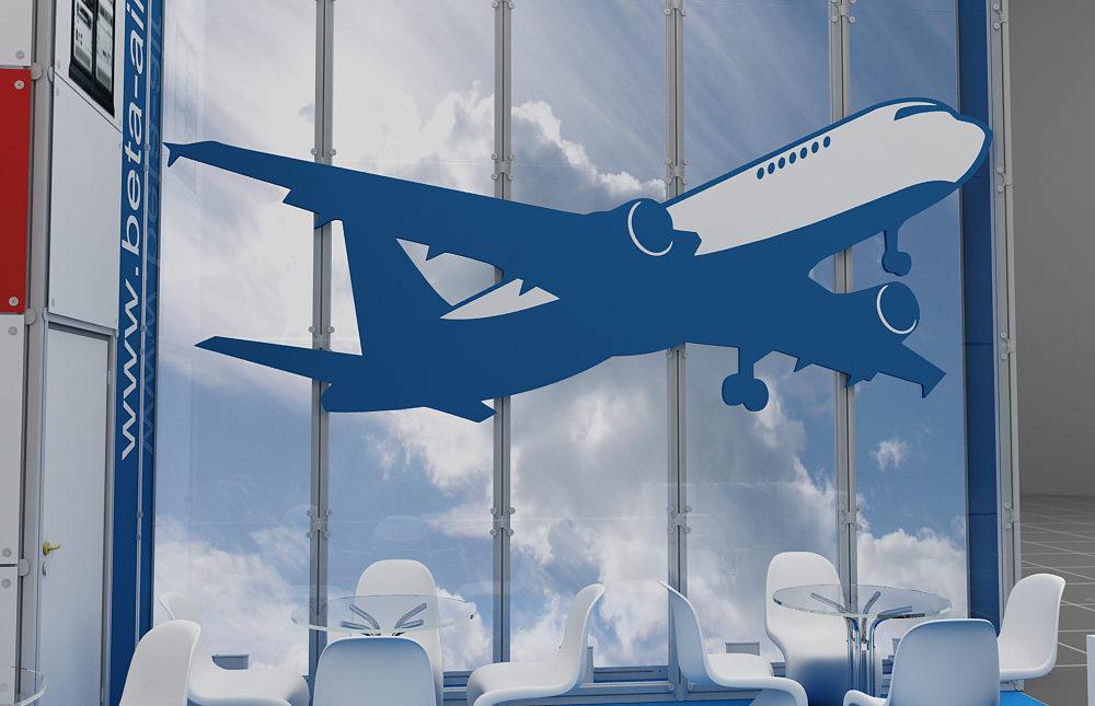 Дизайн проект выставочного стенда компании Beta Air (Бета Айр).