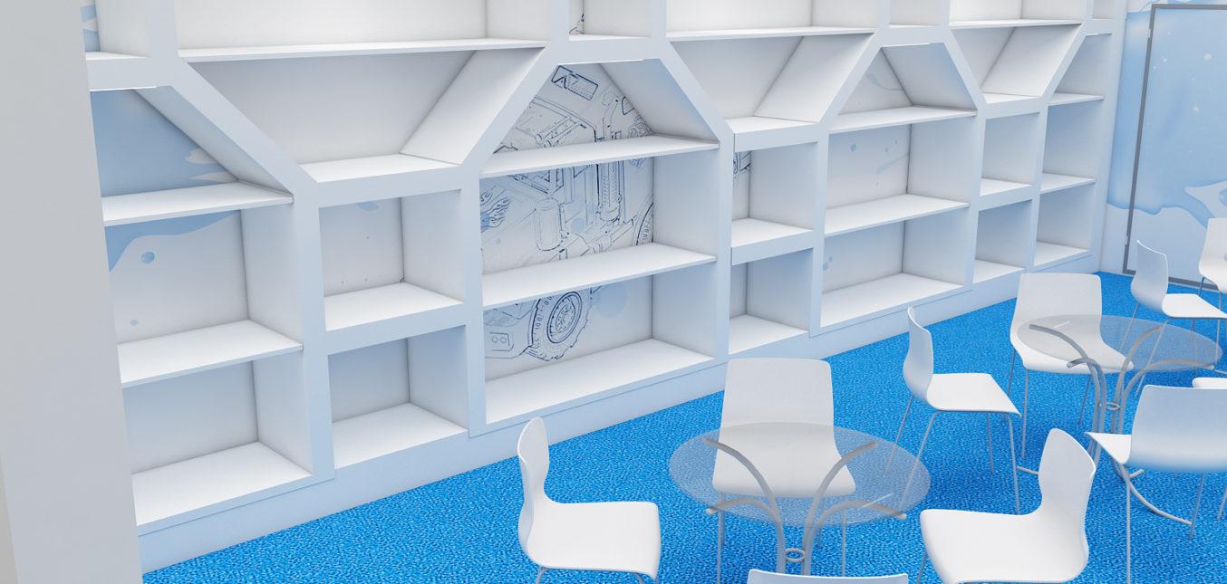 Дизайн проект выставочного стенда для компании Нордпласт.