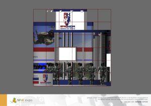 Дизайн проект выставочного стенда для компании Армоком