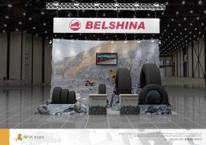 Дизайн проект выставочного стенда Белшина (Belshina)