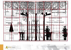 Дизайн проект выставочного стенда группы компаний IEK